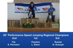 The Wild West Regional 2019 March 8-10 Queen Creek, Arizona Steeplechase & Performance Speed Jumping Tournament Champions (8)